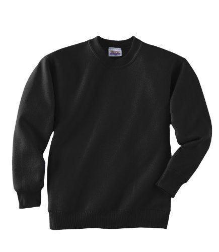 Hanes Youth ComfortBlend Long Sleeve Fleece Crew - p360 (Black / X-Small)