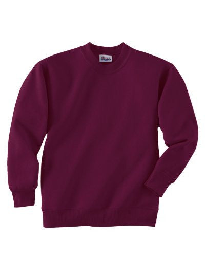 Hanes Youth ComfortBlend Long Sleeve Fleece Crew - p360 (Maroon / X-Large)