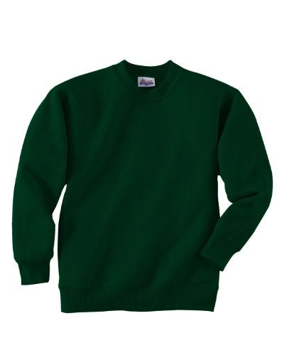 Hanes Youth ComfortBlend Long Sleeve Fleece Crew - p360 (Deep Forest / X-Small)