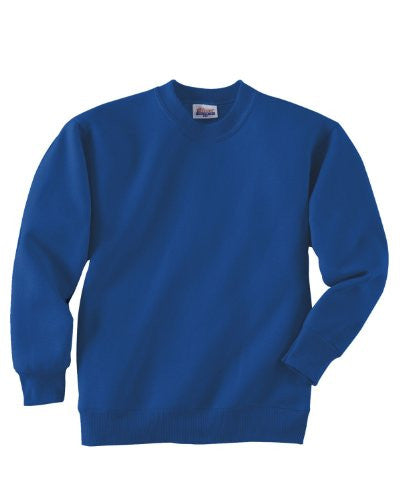 Hanes Youth ComfortBlend Long Sleeve Fleece Crew - p360 (Deep Royal / Small)
