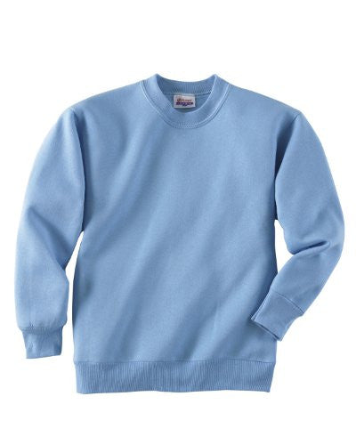 Hanes Youth ComfortBlend Long Sleeve Fleece Crew - p360 (Light Blue / X-Large)