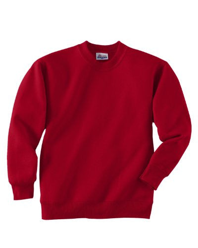 Hanes Youth ComfortBlend Long Sleeve Fleece Crew - p360 (Deep Red / Medium)