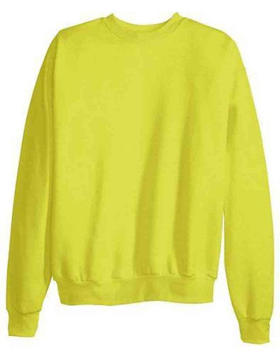 Hanes ComfortBlend Long Sleeve Fleece Crew - p160 (Safety Green / Large)