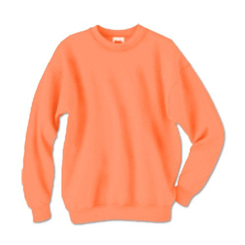 Hanes ComfortBlend Long Sleeve Fleece Crew - p160 (Safety Orange / Small)