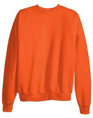 Hanes ComfortBlend Long Sleeve Fleece Crew - p160 (Orange / Large)