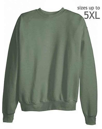 Hanes ComfortBlend Long Sleeve Fleece Crew - p160 (Stonewashed Green / XXX-Large)