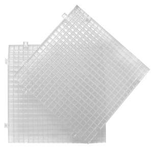 Clear Waffle Grid Surface 2 Pack