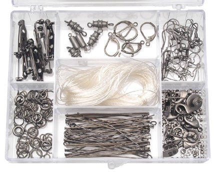 Findings Starter Kit in Caddy - Antique Silver Plated