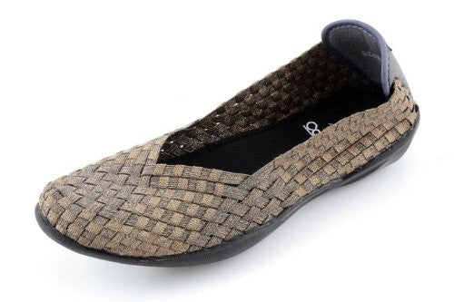 Corkys Womens Sidewalk Slip on Flat Shoe,Bronze,8