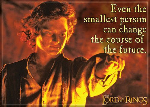 LOTR Frodo Smallest Person - PHOTO MAGNET 2 1/2 in. x 3 1/2 in.