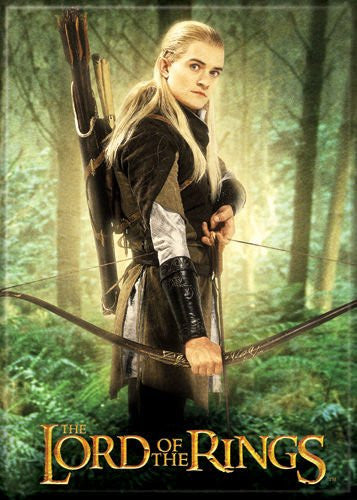 LOTR Legolas in the Forest - PHOTO MAGNET 2 1/2 in. x 3 1/2 in.