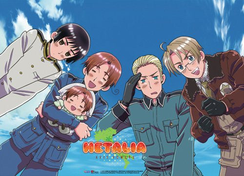 Hetalia 4 Country Group Fabric Poster