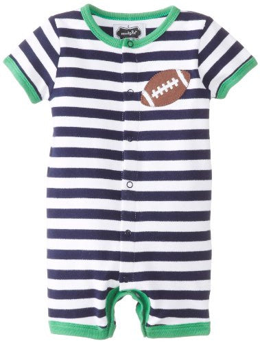 Football Creeper,Size: 0-6 MONTHS