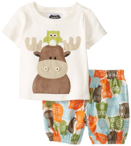 Moose Diaper Cover Set,Size: 0-6 MONTHS