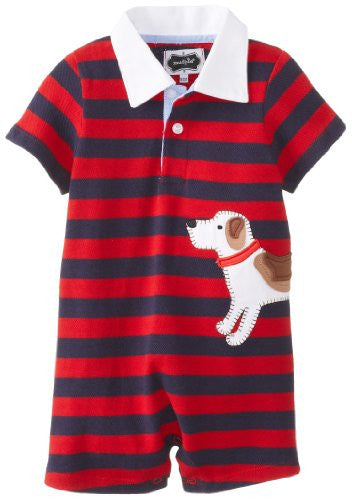 Little Buddy Puppy Polo One-Piece,Size: 9-12 MONTHS