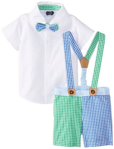 Sunday Best 3-Piece Suspender,6-9 Months