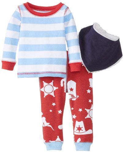 Cowboy Two-Piece With Bib,Size: 0-6 MONTHS
