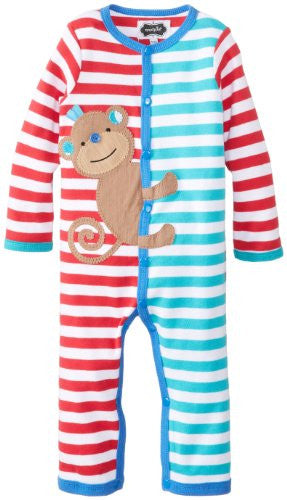 Safari Monkey One-Piece,Size: 9-12 MONTHS