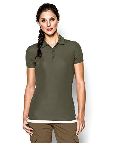 UNDER ARMOUR Tac Women's Range Polo Marine OD Green Large