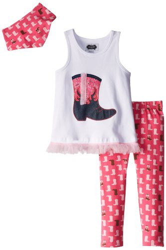 Cowgirl Tunic And Legging Set,Size: 3T
