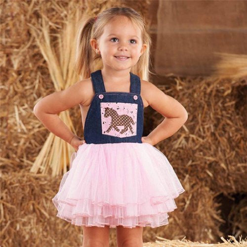 Cowgirl Overall Dress,Size: 5T