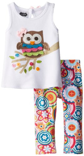 Owl Tunic & Legging Set,Size: 4T