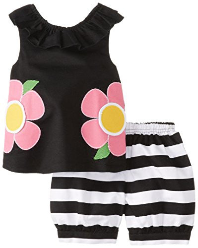 Flower Short Set,Size: 3T
