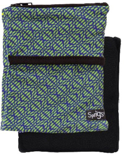 2 Pocket Phone Banjees - Geo Green Blue/Black