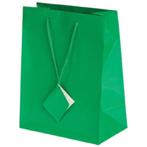 MEDIUM GIFT BAGS/GREEN - 12pcs