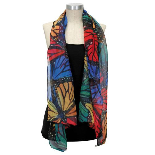 Harold Feinstein Multi Butterfly Printed Scarf