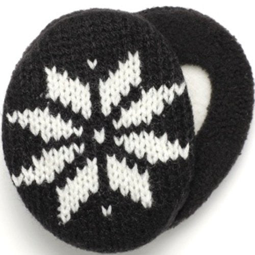 Knit Snowflakes with Thinsulate Black, Small