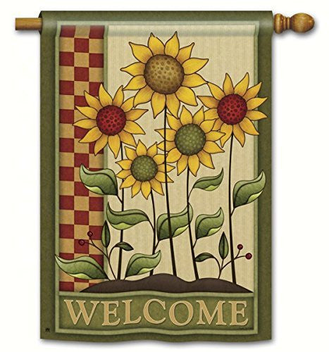 "Simply Sunflowers DS Standard Flag, 28"" x 40"""