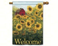 "Sunflower Farm DS Standard Flag, 28"" x 40"""