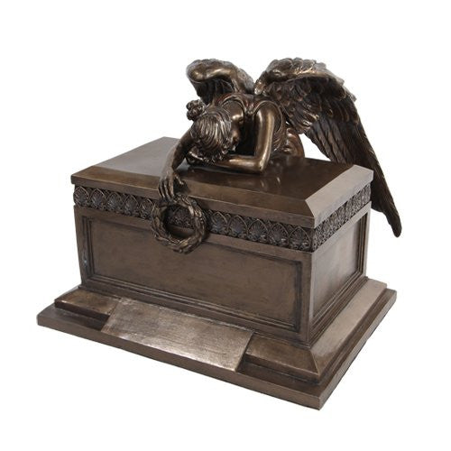 "Angel of Bereavement Urn Bronze 11 1/4"" x 11 1/2"" x 9"""