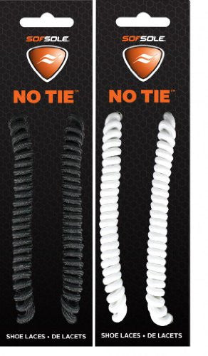 "No Tie Lace - Black & White, Fits 27""-45"""