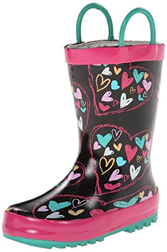 Western Chief Heart Doodle Black Size: 10 Child