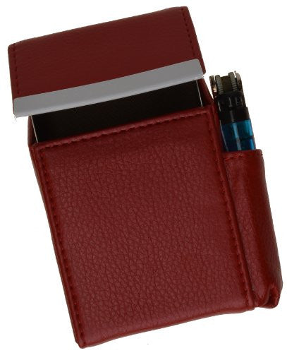 New Marshal Genuine Cigarette Case Holder#92812 (Red)