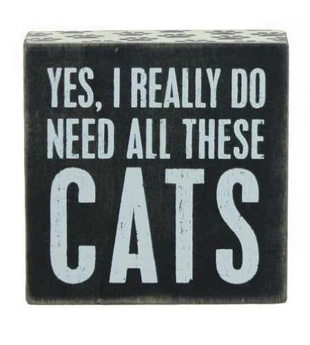 Box Sign - Need Cats!