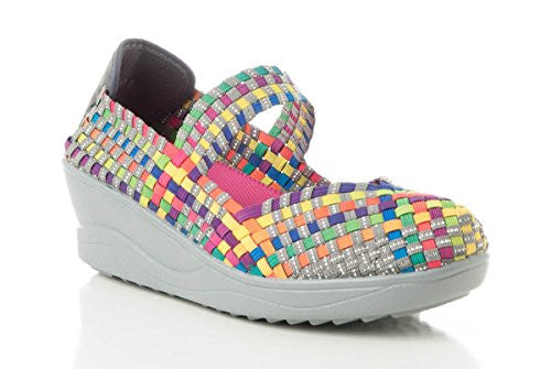 "Camp 2.5"" Wedge Heel Shoes - Bright Multi (Size 8)"