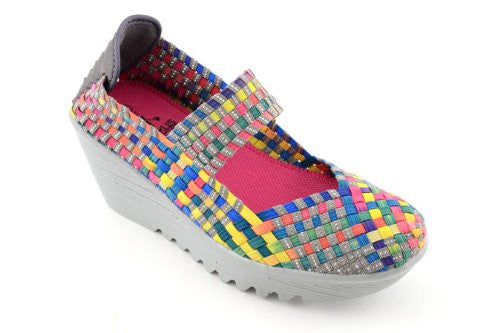 "Camp 2.5"" Wedge Heel Shoes - Bright Multi (Size 11)"