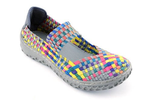 Corkys Womens Liz Fashion Woven Flats Shoes,11 B(M) US,Bright Multi