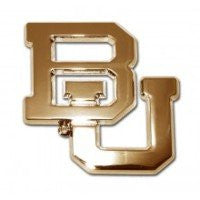 "Baylor University Gold Auto Emblem (""BU"" Open)"