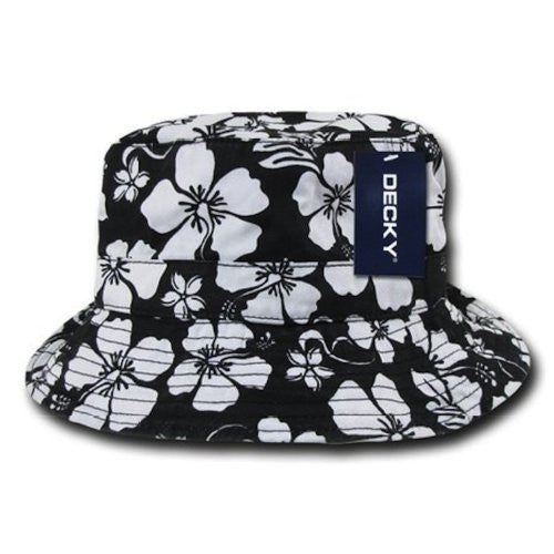 DECKY Floral Polo Bucket Hat (Black / Large/X-Large)