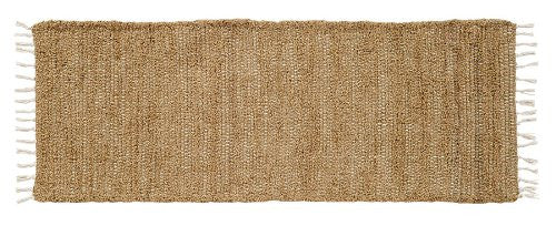 Burlap Natural Chindi/Rag Runner 13x36""