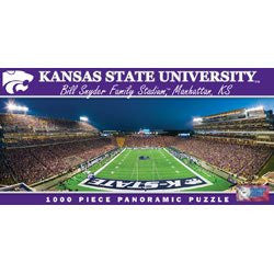 NCAA Licensed 1000 piece Panoramic Stadium Masterpieces Puzzle (Kansas Wildcats/Bill Snyder Family Stadium)