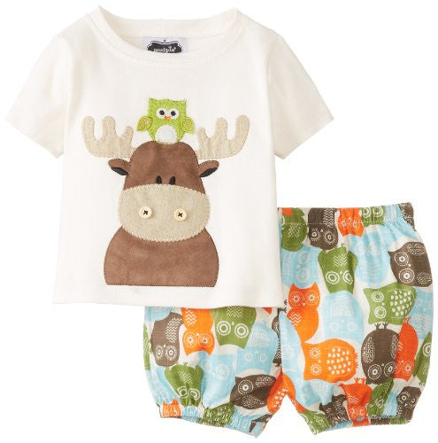 Moose Diaper Cover Set,Size: 12-18 MONTHS