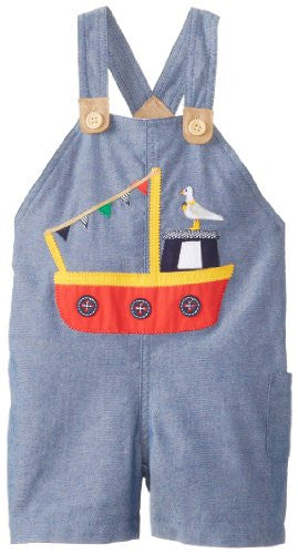 Tug Boat Overall,Size: 12-18 MONTHS