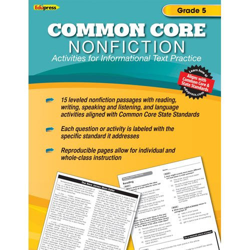 Common Core Nonfiction Activity Book, Grade 5