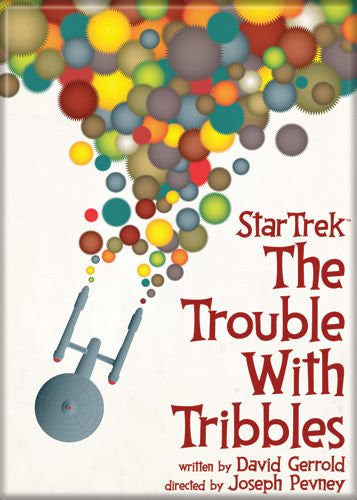 Star Trek The Trouble with Tribbles Poster - PHOTO MAGNET 2 1/2 in. x 3 1/2 in.
