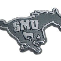 Southern Methodist Chrome Emblem (SMU embossed on Mustang)